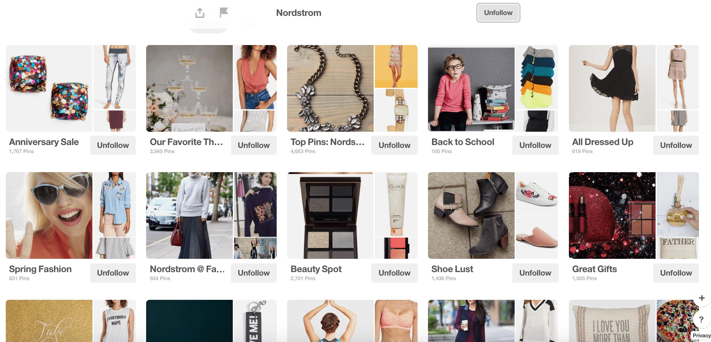 Nordstrom Pinterest