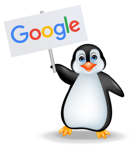 A naughty Penguin representing the Google Penguin update