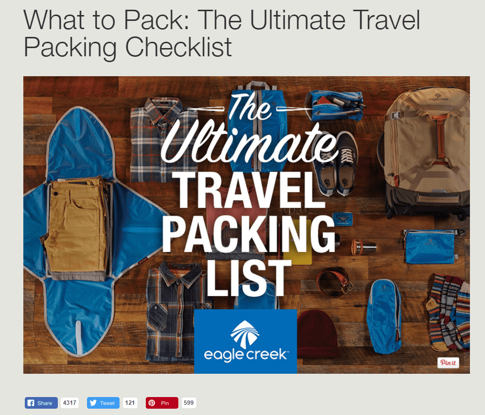 Eagle Creek's Ultimate Travel Packing Checklist