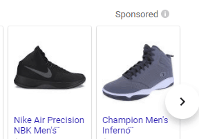 basketball shoes sponsored search