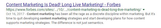content marketing clickbait