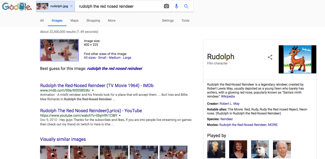 google search for rudolf